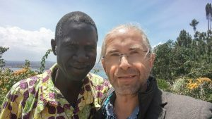 Bishop Noah Pogoto and Steffen Buerger (c) Photograph: Steffen Buerger (Uganda, August 19th 2017)