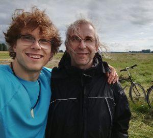 Jan-David und Papa auf Fahrradtour (c) Foto: Jan-David Bürger 2016