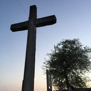 Verdrahtetes Kreuz in Henvelez (Belgien, Mai 2017) (c) Foto von Steffen Bürger