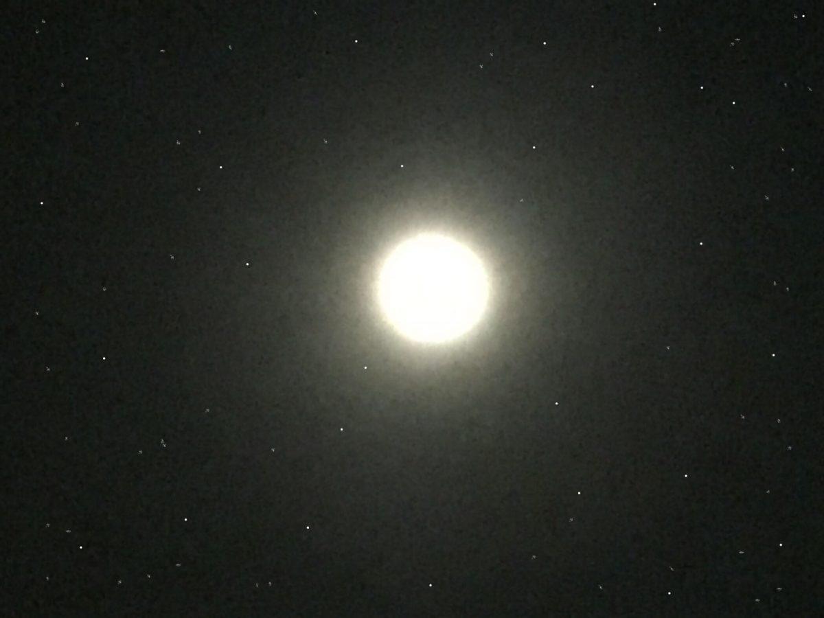 Mond und Sterne (c) Foto: Steffen Bürger 29.03.2018 (bearb. von Steffen Bürger)