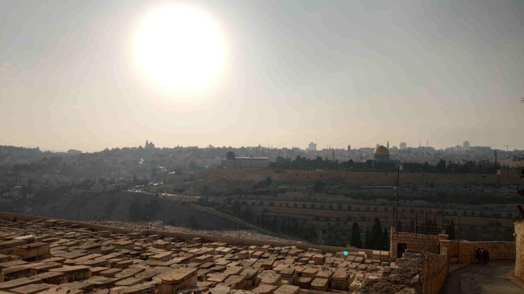 Blick vom Ölberg auf den Tempel in Jerusalem Foto Oktober 2019 (c) Steffen Bürger